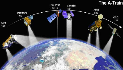 CloudSat Education Satellites - World satellite picture